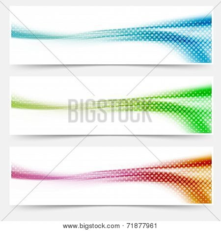 Bright Liquid Swoosh Wave Headers Footers Banners