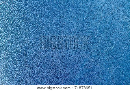 Blue Leather Background and Texture