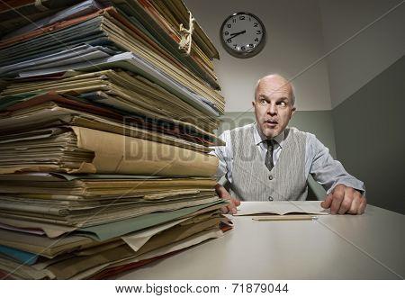 Overworked Vintage Employee