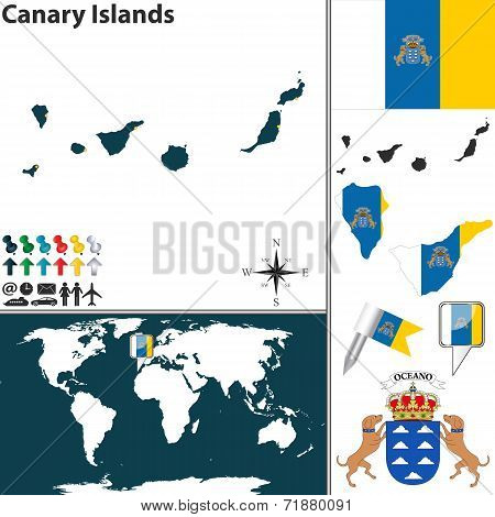 Map Of Canary Islands