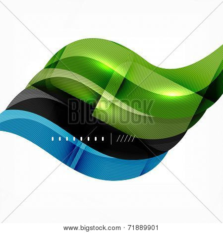 Futuristic braid looking wave background, modern hi-tech infographic layout