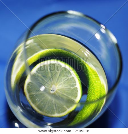 Glass With Water And Lime