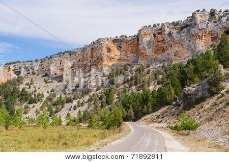 Cliffs In Rio Lobos Canyon