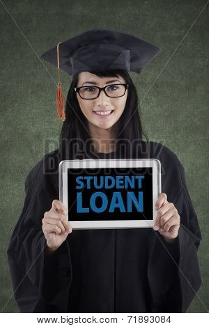 Bachelor Showing A Student Loan Text
