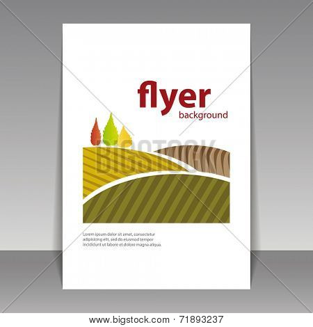 Flyer or Cover Design - Autumn Landscape