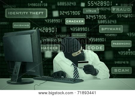 Businessman Breaking Credit Card Security 1