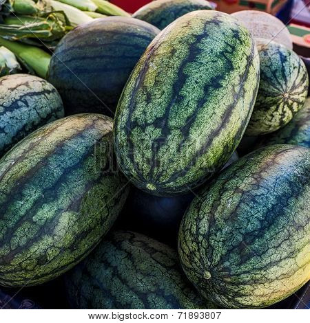 Watermelons At Farmers' Market