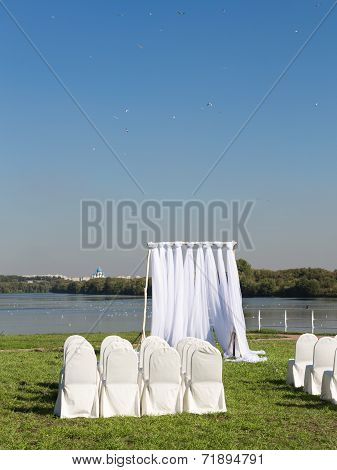 White Decorated Chairs