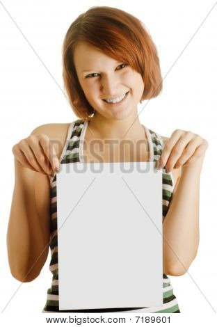 Girl With The Sheet Of Paper