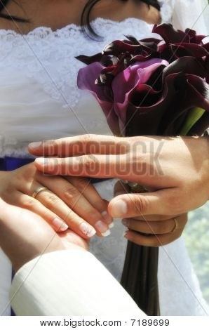 Wedding Moment Hands Closeup