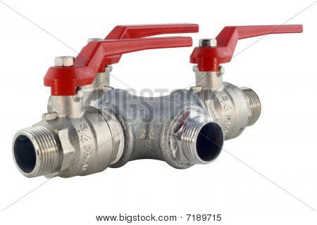 Pipes And Valves Isolated