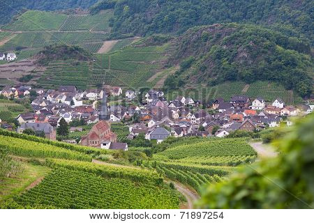 View Of A Beautiful German Village