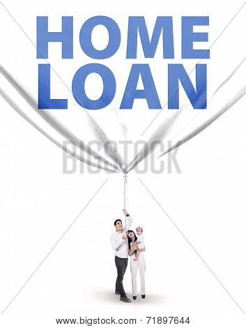 Young Family With Home Loan Banner