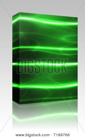 Laser Technology Background Box Package