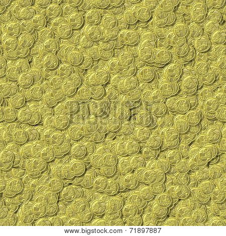 Coin Seamless Generated Texture Background