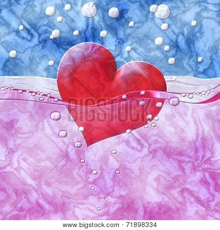 Philtre Drink Of Love Relief Painting On Generated Marble Textur