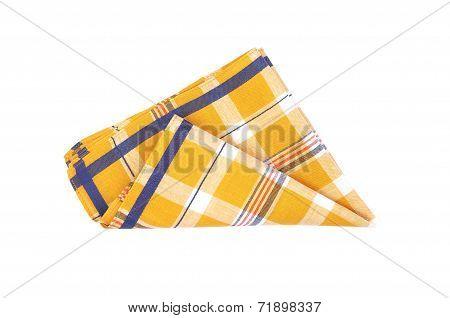Yellow Plaid Cloth