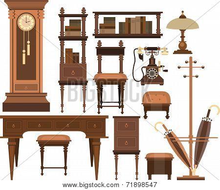 Interior Decorations In A Retro Style