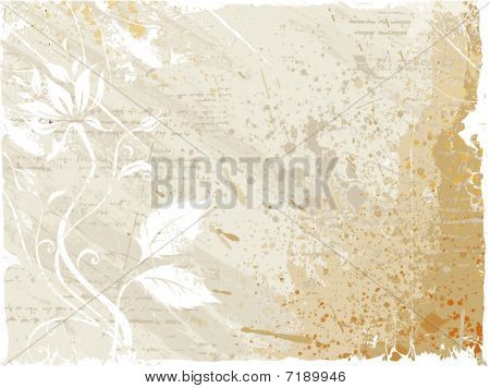 Flower Pattern And Stain Background