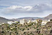 foto of jabal  - Image of landscape with village Wadi Bani Habib in Oman - JPG