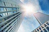stock photo of frankfurt am main  - modern office buildings in Frankfurt am Main - JPG