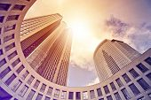 image of frankfurt am main  - modern office tower in the sun - JPG