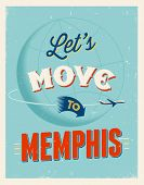 stock photo of memphis tennessee  - Vintage traveling poster  - JPG