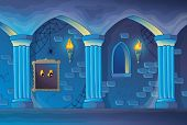 picture of scary haunted  - Haunted castle interior theme 1  - JPG