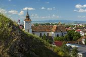pic of evangelism  - St. Bartholomew Evangelical Church located near Sprenghi hill in Bartolomeu (Bartholomew) district Brasov Romania. Built in the 13th century it is the oldest historical monument of the town.