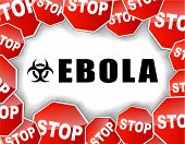 pic of hemorrhage  - illustration of stop ebola virus epidemic concept - JPG