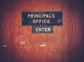 picture of punishment  - Retro Filtered Image Of A Grungy Principal - JPG