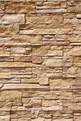 pic of tile cladding  - Cladding tiles imitating stones in sunny day - JPG