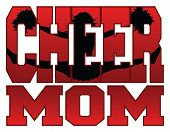 stock photo of cheerleader  - Illustration of a cheer design for cheerleaders moms - JPG