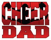 stock photo of cheerleader  - Illustration of a cheer design for cheerleaders dads - JPG