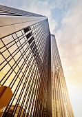 stock photo of frankfurt am main  - modern office tower at dawn Frankfurt am Main Germany - JPG