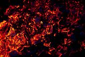 pic of ember  - beautiful glowing embers of wood on a black background