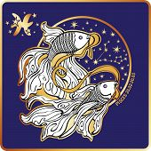 foto of pisces  - Pisces zodiac sign - JPG