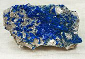 picture of lapis lazuli  - ultramarine mineralization on the rock material; on cloth
