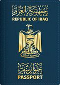 picture of passport cover  - vector cover of Iraqi passport - JPG