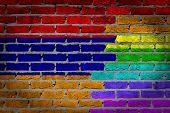 stock photo of armenia  - Dark brick wall texture  - JPG