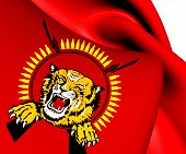stock photo of tamil  - 3D Flag of Tamil Eelam - JPG