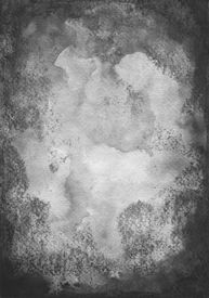 image of saddening  - Black watercolor on paper with the High resolution scanned - JPG