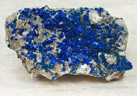 picture of lapis lazuli  - ultramarine mineralization on the rock material; on cloth ** Note: Soft Focus at 100%, best at smaller sizes - JPG