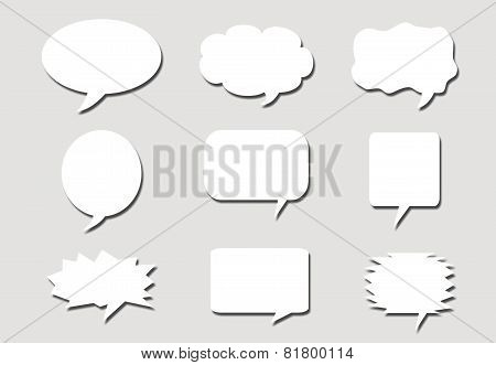 Paper Speech Bubbles Background