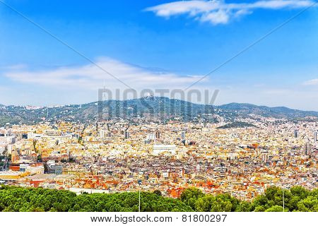 Panorama on Barcelona.