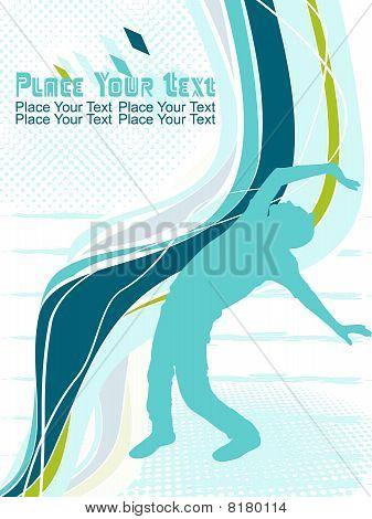 Abstract dancing man illustration vector