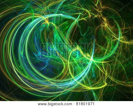 Colour Abstract Art Fibers , Background.