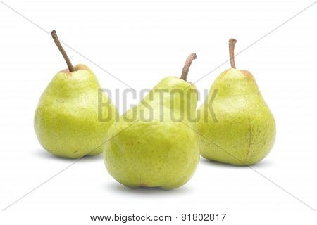 Pears Fruit Isolated On White Background