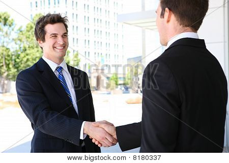 Business Man Team Handshake