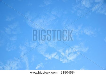 Altocumulus clouds in blue sky